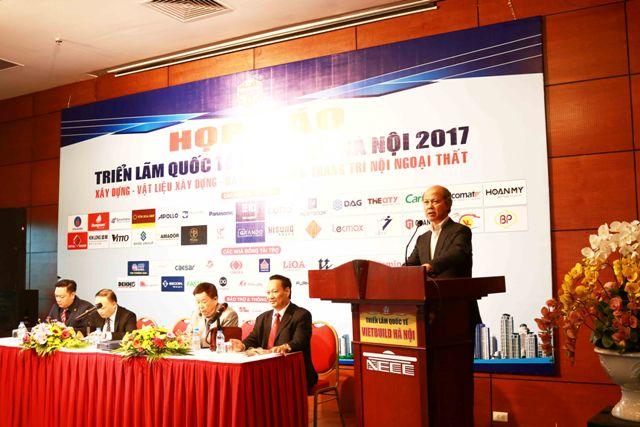 Họp báo giới thiệu Triển lãm Quốc tế Xây dựng VIETBUILD Hà Nội 2017
