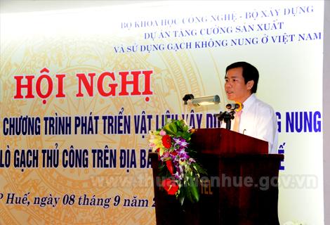 Thừa Thiên Huế: Sơ kết 5 năm triển khai chương trình phát triển vật liệu xây dựng không nung