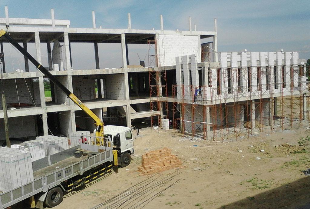 Sử dụng vật liệu xây không nung trong xây dựng góp phần giảm tác động môi trường
