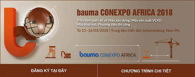 Thông báo về Triển lãm bauma Conexpo Afica