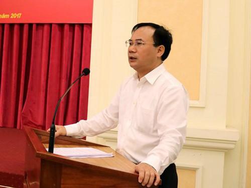 Thứ trưởng Bộ Xây dựng Nguyễn Văn Sinh phát biểu chào mừng tại Dễn đàn BMF 2018