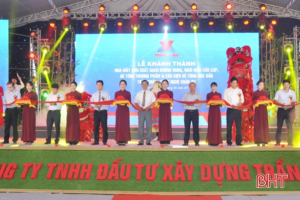 Hà Tĩnh: Khánh thành nhà máy gạch không nung công nghệ hàng đầu Việt Nam