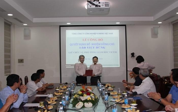 Tổng công ty Công nghiệp xi măng Việt Nam bổ nhiệm Phó Tổng giám đốc mới
