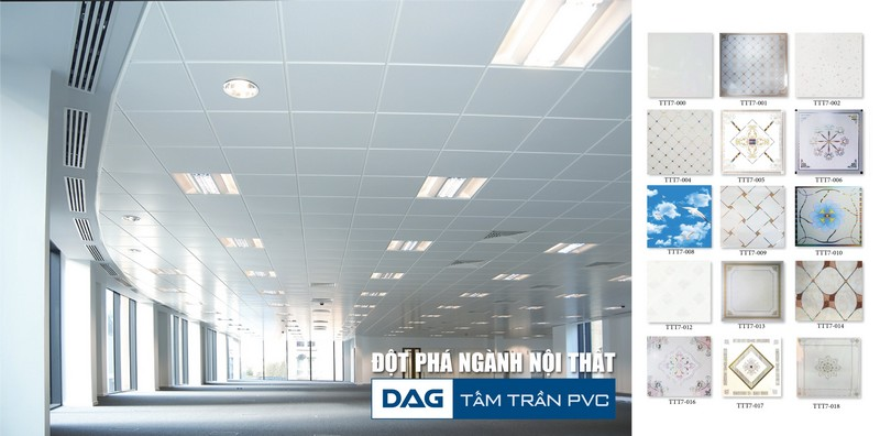 Tấm trần thả PVC của DAG bước đột phá trong ngành nội thất