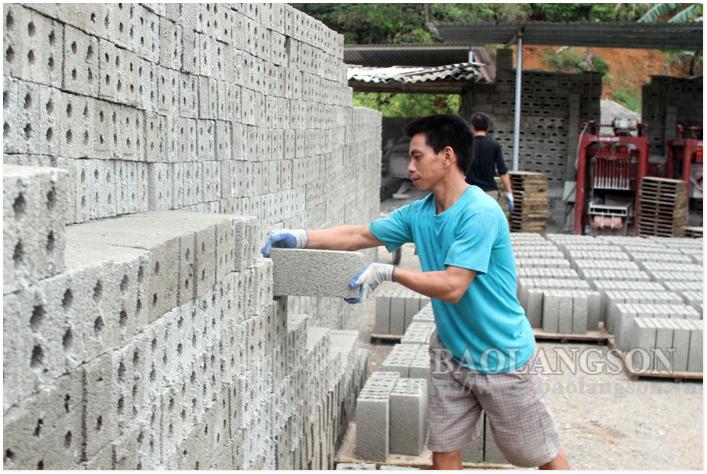 Lạng Sơn: Đẩy mạnh sản xuất vật liệu xây không nung