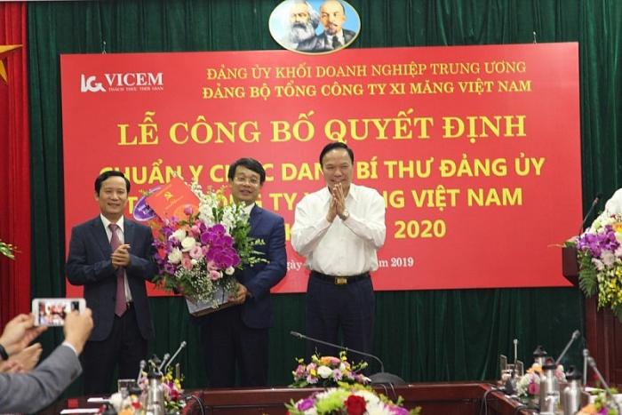 Đồng chí Bùi Hồng Minh - Chủ tịch Hội đồng Thành viên, Tổng Giám đốc VICEM được bầu giữ chức vụ Bí thư Đảng ủy VICEM.
