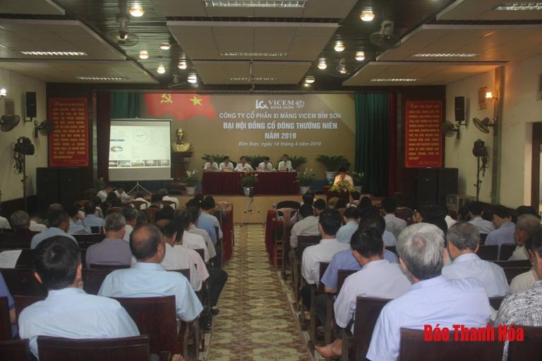 Công ty CP xi măng Bỉm Sơn tổ chức thành công Đại hội đồng cổ đông thường niên năm 2019