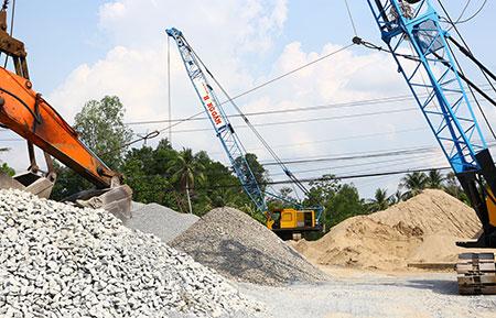 Hậu Giang: Thị trường vật liệu xây dựng vào mùa cao điểm