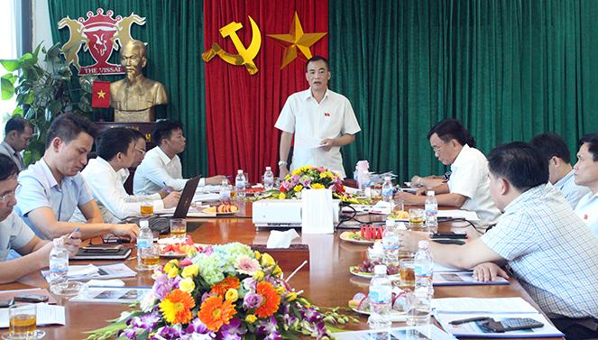 Đoàn giám sát của Ủy ban Khoa học, Công nghệ và Môi trường làm việc với Công ty xi măng Sông Lam