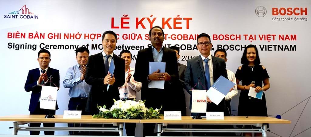 Saint-Gobain và Bosch hợp tác cung cấp thiết bị hỗ trợ thi công thạch cao tại Việt Nam