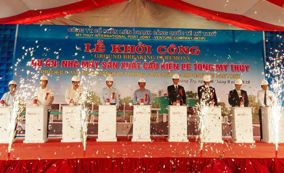 Quảng Trị: Khởi công xây dựng Nhà máy sản xuất cấu kiện bê tông Mỹ Thủy