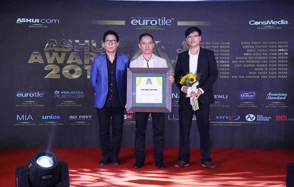 USG Boral Việt Nam được Ashui bình chọn là Hãng kỹ thuật của năm