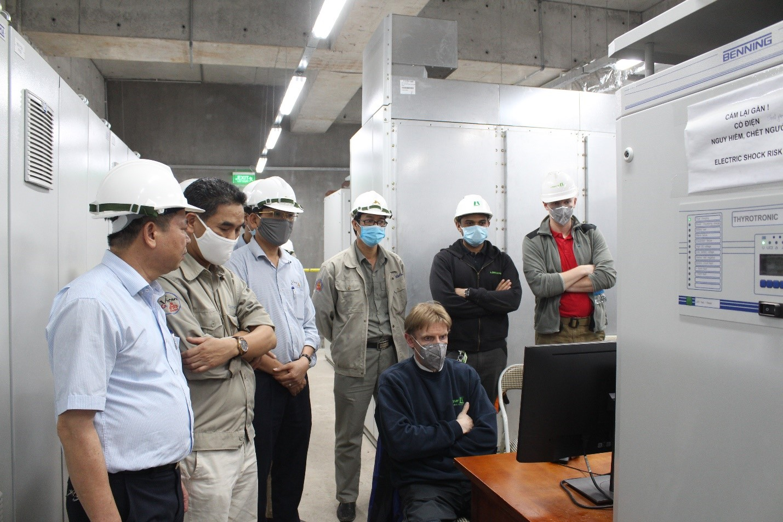 """Vận hành chạy thử có tải máy nghiền xi măng thuộc Dự án """"Nâng cao năng lực nghiền xi măng và silo chứa xi măng"""""""
