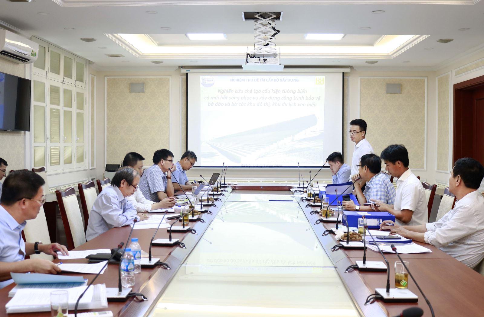 Nghiệm thu Đề tài khoa học công nghệ do nhóm nghiên cứu trường Đại học Thủy lợi thực hiện